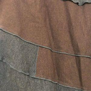 JJill long skirt brown and gray xsP